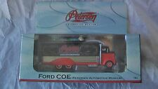 HOT WHEELS PETERSEN AUTOMOTIVE MUSEUM FORD COE IN DISPLAY BOX NEW RED