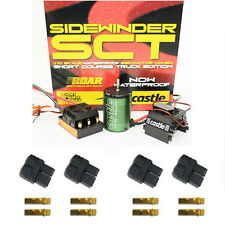 Castle Creations 1/10 Sidewinder SCT WaterProof WP Esc w 3800kV Combo + Traxxas