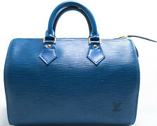 Louis Vuitton EPI Speedy 25 Borsa Bag Boston elegante BLUE BLU BLEU SUPER zstd