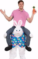 Easter Bunny Costume Carry Me Ride On Shoulders Rabbit Adult Mens Funny Mascot
