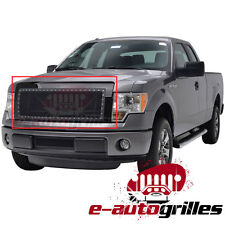 09-14 Ford F150 Rivet Black Stainless Steel  Wire Mesh Grille Grill With Shell