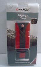 """Wenger Luggage Strap Ultra Rugged Fits Up To 72"""" Red And Black Brand New Sealed"""