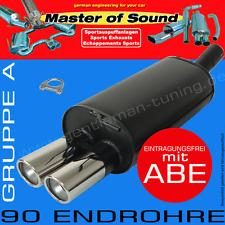 MASTER OF SOUND SPORTAUSPUFF OPEL ASTRA F STUFENHECK 1.4 1.6 1.8 2.0