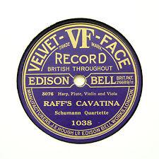 "SCHUMANN QUARTETTE ""Raff's Cavatina"" EDISON BELL VELVET FACE 1038 [78 RPM]"