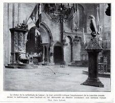 1929  --  LA CHOEUR DE LA CATHEDRALE DE LESCAR  EMPLACEMENT DS FOUILLES   3L512