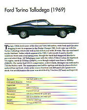 1969 Ford Torino Talladega 428 Cobra Jet Article - Must See !!