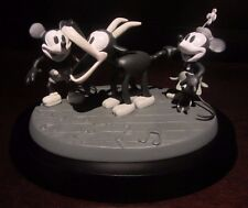 RARE Disney LE Steamboat Willie Mickey Mouse Minnie Black & White Figure Statue