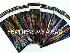 50 Pc Discounted Cheap Feather Extensions Grizzly And Solid Wholesale Discount
