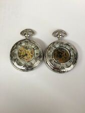 Two Quartz Skeleton Pocket Watches