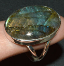 Labradorite 925 Sterling Silver Ring Jewelry s.8 JJ3468