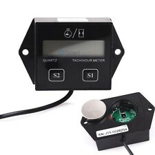 LCD Digital Tach Tachometer Hour Meter For Motorcycle ATV Generator Spark Plug