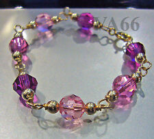 Baby Child 14K Gold Filled Swarovski Crystal Bracelet Gelang Tangan Emas Suasa