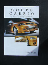 OPEL ASTRA COUPE & CABRIO OPEL LINE 2002 SALES BROCHURE IN FRENCH