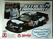 "2013 JEFFREY EARNHARDT ""TOBACCO FLORIDA"" #79 NASCAR NATIONWIDE SERIES POSTCARD"