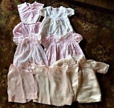 VINTAGE PINK BABY OR LARGE DOLL CLOTHES NANNETTE DUETS SEVEN PIECES COTTON SILK
