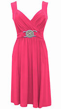 NEW PINK COCKTAIL EVENING PARTY WEDDING PROM DRESS SIZE 16-18