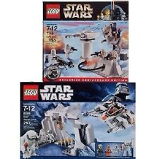 LEGO Star Wars 7749 & 8089 Echo Base & Hoth Wampa Cave Retired Empire New Sealed
