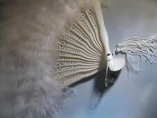"KIRKS FOLLY ""BEAUTIFUL WHITE FEATHER FAN"" NEW, NEVER USED, IT'S GORGEOUS!"