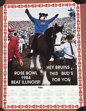 1984 UCLA BRUINS ROSE BOWL VICTORY BUDWEISER 18 x 24 POSTER CALENDAR FOOTBALL