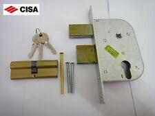 CISA GATE LOCK 42512-50 con Profilo Euro Cilindro con 3 chiavi in ottone finitura