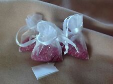 Swarovski Promotional 3 Mesh Bags of LOOSE CRYSTALS PINK