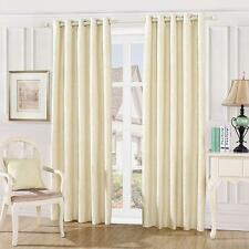 Fully Lined Damask Pattern Eyelet Curtains with Tie Backs  And Accessories
