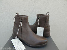 UGG COLLECTION STELLA GRIGIO LEATHER FULLY SHEARLING LINED BOOTS, US 7/ 38 ~NIB
