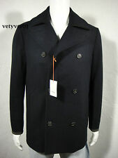 JACK SPADE Peacoat/Military Wool Clearmont Removable Down Vest, Navy Blue size S