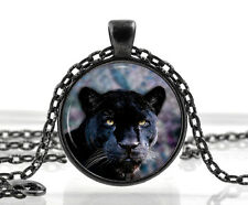 Black Panther Necklace - Cat Pendant - Animal Nature Picture - Gifts for Women