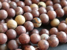 "COFFEE BEAN JASPER 10mm beads, 15.5"", approx 40"