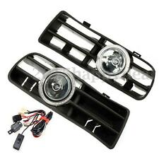 Pair LED Lamp Fog Lights Front Lower Bumper Grille Angel Eyes For VW Golf 98-04