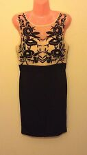 evening sleeveless floral mesh top bodycon dress ex House Of Fraser stock