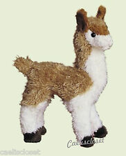 "Douglas Lena LLAMA 7"" Plush Stuffed Standing Farm Animal Cuddle Toy Alpaca NEW"
