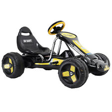 Kids Ride Go Kart 4 Wheel  on Car Stealth Pedal Powered Outdoor Racer Black