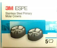 3M Stainless Steel Primary Pediatric Pedo Molar Crowns D And E All Sizes Availab