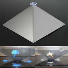 3D Holographic Pyramid Projector Hologram Display Stand w/ Chuck For iPad Tablet