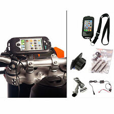 Motorcycle Bike M8 Bike Handlebar Mount Tough Charger Case for iPhone 4s 4 S