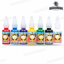 IMMORTAL TATTOO INK 7-PACK Primary Color Set Bottles Black Color Ink SQL118