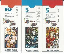 1997 Christmas-Madonna and Child issue BK202,203 &204 booklets complete
