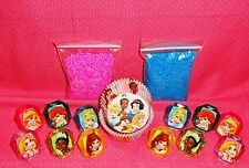 Princess,Disney,Cupcake Kit,Rings,Sprinkles,Bake Cups,Wilton,415-7475,Blue/Pink