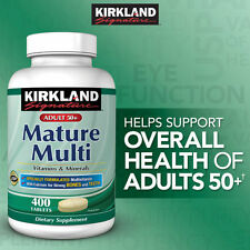 Kirkland Signature Adults 50+ Mature Multi, 400 Tablets Sealed!!!