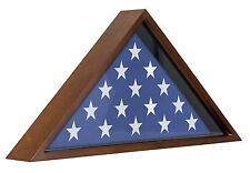 Memorial Flag Case - Display Case For 5x9.5' Flag with Mahogany Finish -