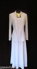 CATTIVA tamaño 12 14 Bluey Lila Damas Vestido y chaqueta traje de diseñador de Boda