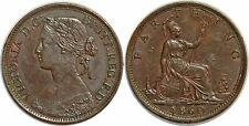 GREAT BRITAIN FARTHING 1860 KM#747.2 XF!!!