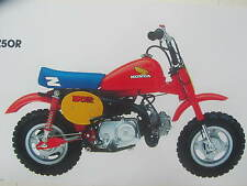 HONDA Z50R 1984 DECALS KIT COMPLETE   REPRO