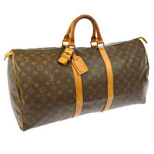 AUTHENTIC LOUIS VUITTON KEEPALL 55 TRAVEL HAND BAG PURSE MONOGRAM M41424 JT0533