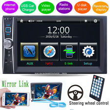 "6.6"" Double 2DIN Car Stereo MP5 MP3 Player In Dash Bluetooth FM Ipod TV Radio"