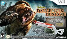 Cabelas Dangerous Hunts 2013 WII WITH GUN NEW! HUNTING, LION, TIGER, BEAR HUNT