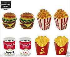 DUO SALIERE POIVRIERE FAST FOOD HAMBURGER FRITE POP CORN