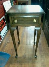 ANTIQUE WALNUT DROP LEAF NIGHTSTAND table